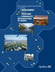 Orientations gouvernementales en matière d'aménagement pour le ...