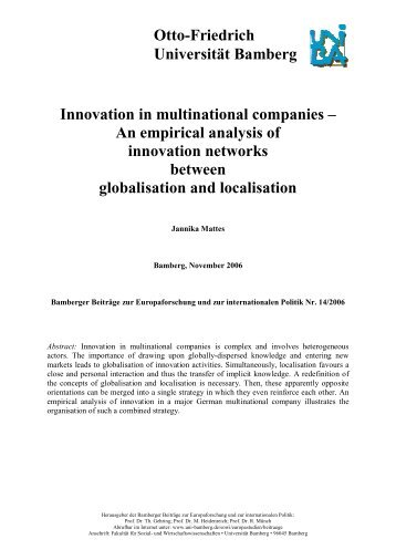 globalisation and multinational companies