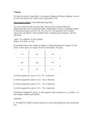Clipping We study two types of algorithms: Line-segment clipping ...