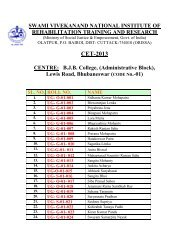 CET-2013 - National Institute of Rehabilitation Training and Research