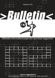 Bulletin - SC Siggenthal