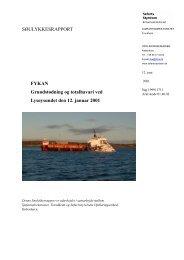SØULYKKESRAPPORT FYKAN Grundstødning ... - Søfartsstyrelsen