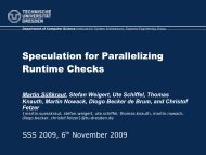 Speculation for Parallelizing Runtime Checks - ResearchGate