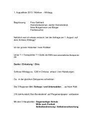 1. Augustfeier 2013 / Möriken - Wildegg Begrüssung Frau Gebhard ...