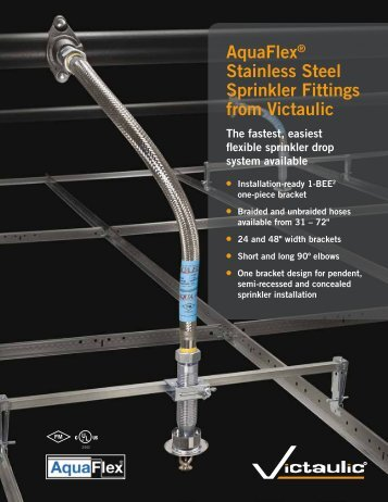 AquaFlex® Stainless Steel Sprinkler Fittings from Victaulic