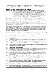 Jugendschutz und Internet - Tipps für Eltern von Rainer ... - Arcor.de