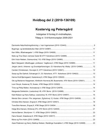 Hvidbog Del 2. Kostervig og Petersgrd - Vordingborg Kommune