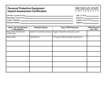 osha risk assessment template - exposure control plan template osha respiratory standards