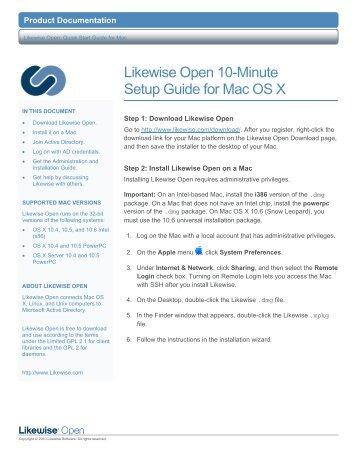 Likewise Open 6.1 Quick Start Guide for Mac - Purple Rage