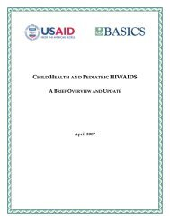 Child Health and Pediatric HIV/AIDS: A Brief Overview and ... - basics