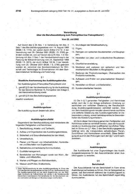über die Berufsausbildung zum Feinoptiker/zur ... - IG Metall