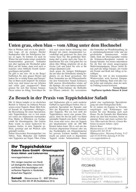Ausgabe 1, Januar 2011 - Quartier-Anzeiger Archiv