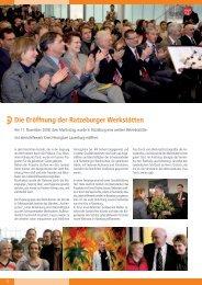 Die Eröffnung der Ratzeburger Werkstätten - Lebenshilfewerk Mölln ...