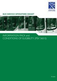 Bus Service Operators Grant - Transport Scotland