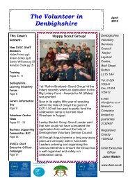Volunteer April 2012(2) - Denbighshire Voluntary Services Council