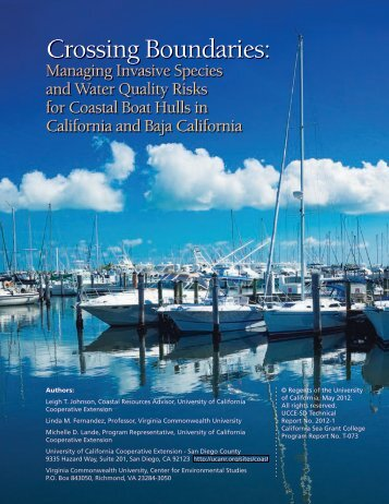 Crossing Boundaries: - Pacific States Marine Fisheries Commission