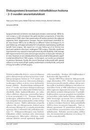 Diskusproteesi kroonisen ristiselkäkivun hoitona - 2–5 vuoden ...