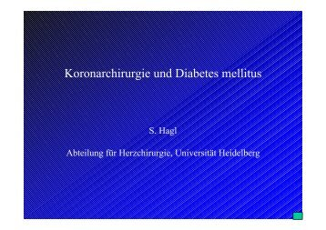 Koronarchirurgie und Diabetes mellitus