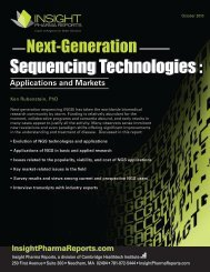 Next-Generation Sequencing Technologies - Insight Pharma Reports