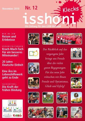 Isshoni November 2010 - Lebenshilfewerk Mölln-Hagenow gGmbH