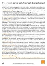 Découvrez le contrat de l'offre mobile Orange France ! - Orange mobile