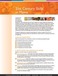21st Century Skills in Maine - The Partnership for 21st Century Skills