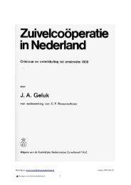 Geluk J.A. - Zuivelhistorie Nederland