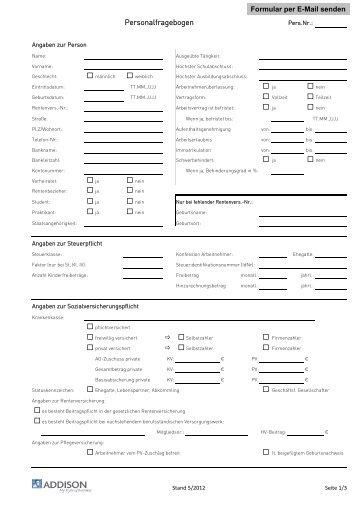 personalfragebogen gleitzone rhh treuhand gmbh - Personalfragebogen Muster