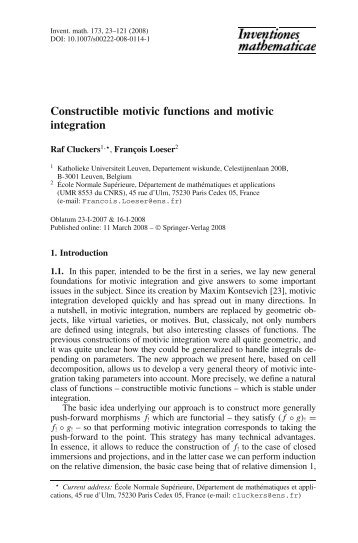 Constructible motivic functions and motivic integration
