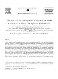 Effects of behavioral changes in a smallpox attack model