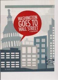 Washington Goes to Wall Street - Tam Harbert