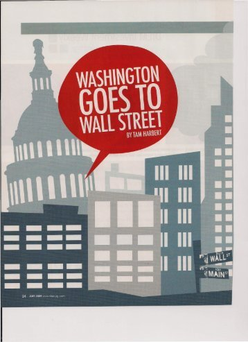 Washington Goes to Wall Street - Tam Harbert
