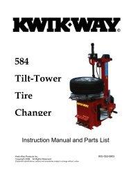 584 Tilt-Tower Tire Changer - aesco