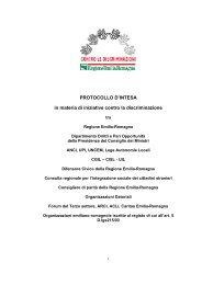 Protocollo d'intesa in materia di iniziative contro la discriminazione