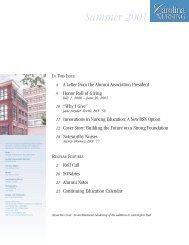 Summer 2001 - School of Nursing - University of North Carolina at ...