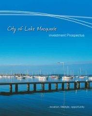Investment Prospectus - Lake Macquarie City Council