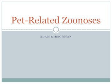 Pet-Related Zoonoses
