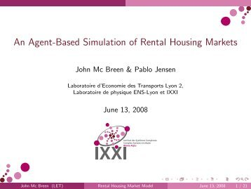 An Agent-Based Simulation of Rental Housing Markets