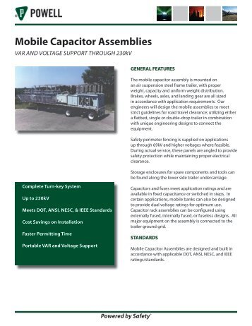 Mobile Capacitor Assemblies - Powell Industries, Inc.