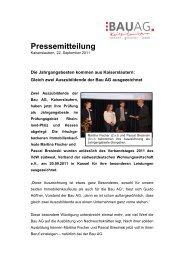 Pressemitteilung - Bau AG