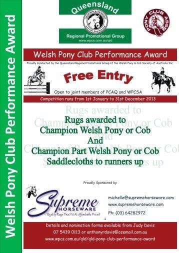 2013 Welsh Pony Performance Award - Pony Club Association of ...