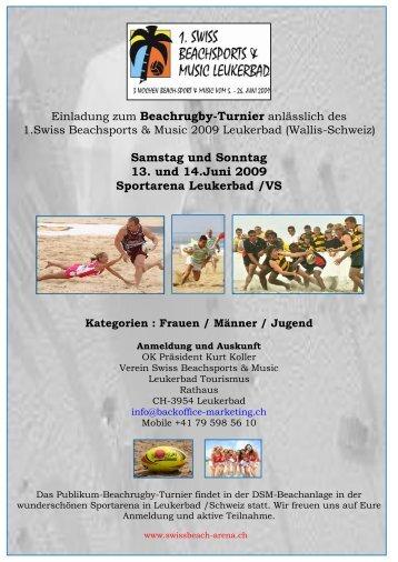 Samstag und Sonntag 13. und 14.Juni 2009 Sportarena Leukerbad ...