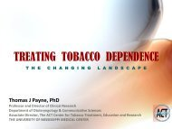 treating tobacco dependence - Louisiana Tobacco Control Program