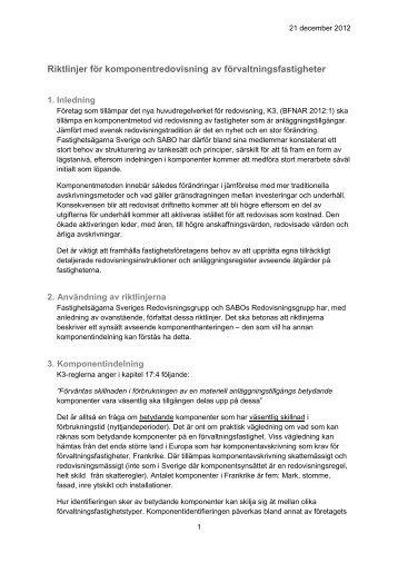 Riktlinjer för komponentredovisning.pdf - Sabo