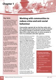 Reducing crime and anti-social-behaviour - Police and Crime ...