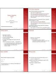 Corpus Linguistics (L615) R for corpus ... - Indiana University