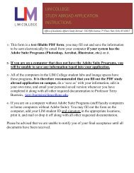 Study Abroad Application form - LIM College