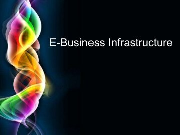 eBusiness Infrastructure
