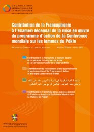 Untitled - Organisation internationale de la Francophonie