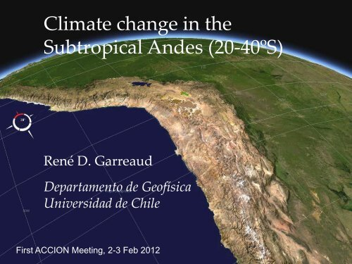 Atmospheric Sciences at DGF – U. Chile (Santiago) - Departamento ...